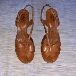 Carlos By Carlos Santana - Brown Leather Heels